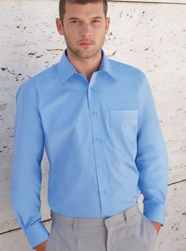 Fruit Of The Loom Poplin Long Sleeve Shirt
